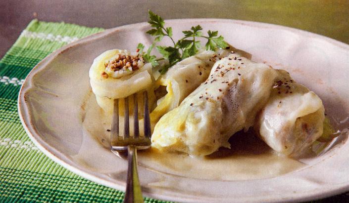 Κοζανίτικοι ντολμάδες με λάχανο αρμιά