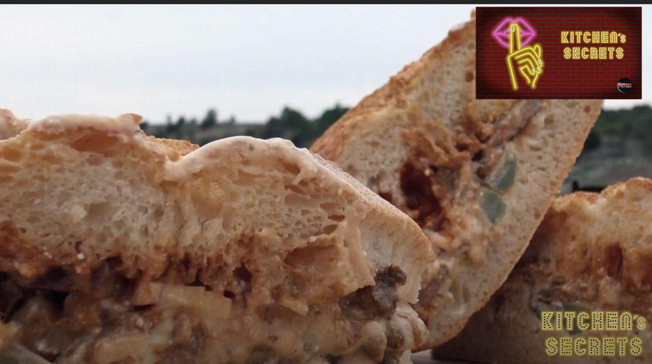 Cheese Steak Sandwich με Χτυπητή, BBQ Sauce και Μαγιονέζα #Pitenis